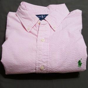 Ralph Lauren S/S seersucker shirt, sz L
